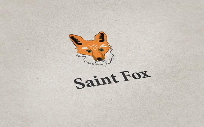 Saint fox logo mockup